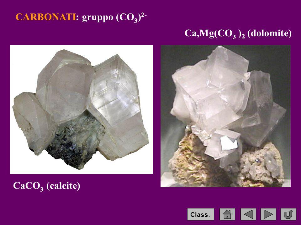 CARBONATI: gruppo (CO3)2-