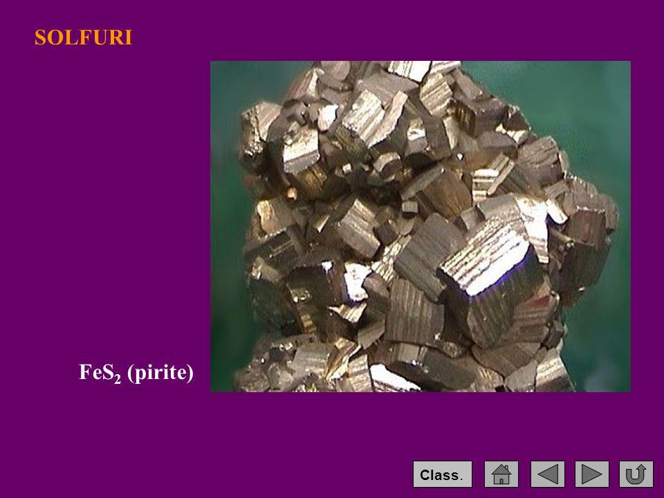 SOLFURI FeS2 (pirite) Class.