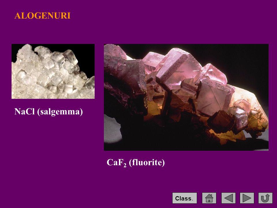 ALOGENURI NaCl (salgemma) CaF2 (fluorite) Class.