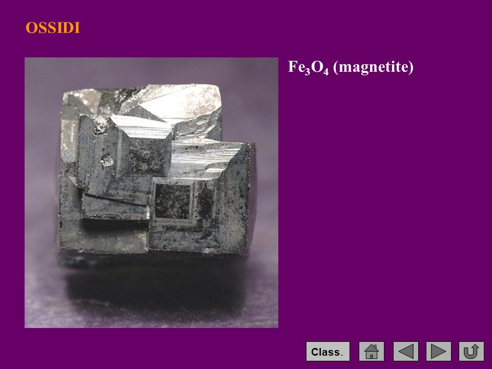 OSSIDI Fe3O4 (magnetite) Class.