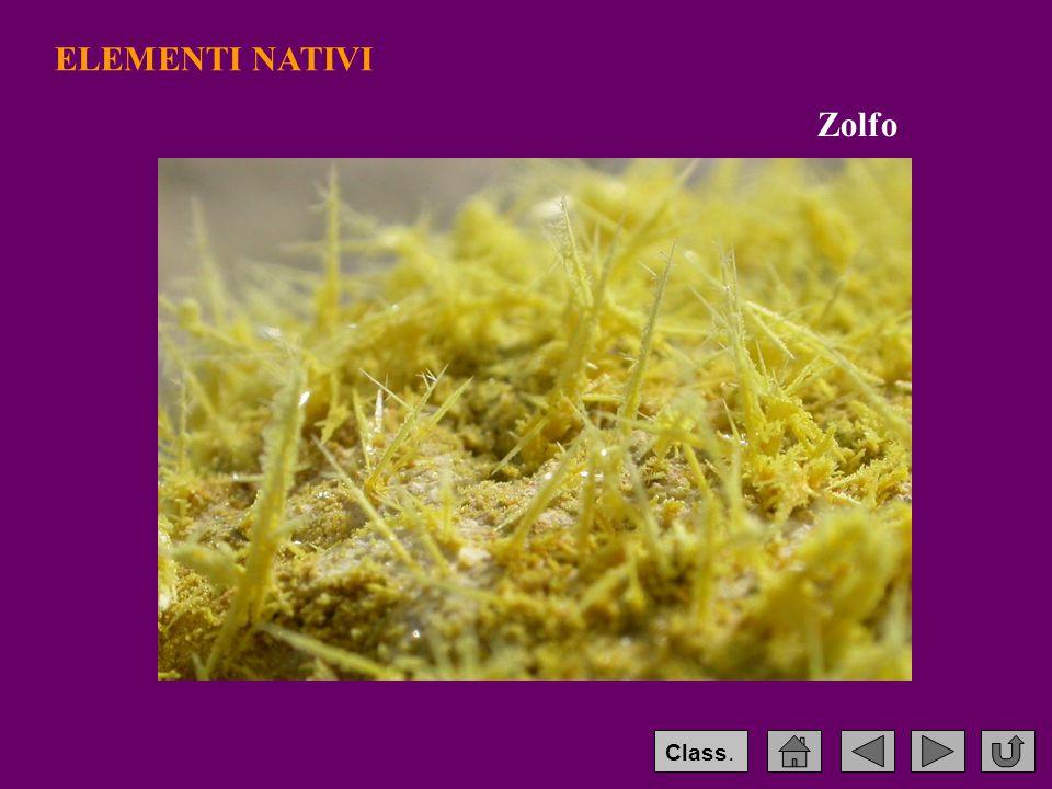 ELEMENTI NATIVI Zolfo Class.