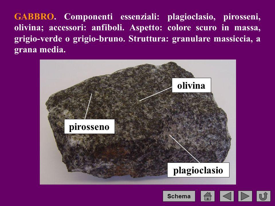 pirosseno plagioclasio olivina