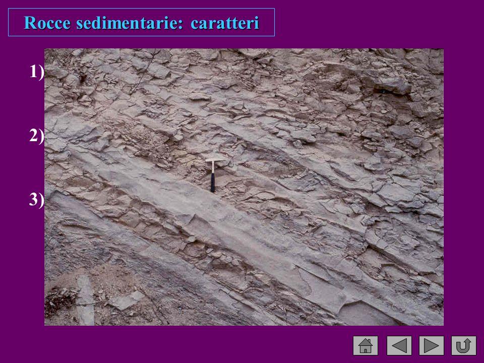 Rocce sedimentarie: caratteri