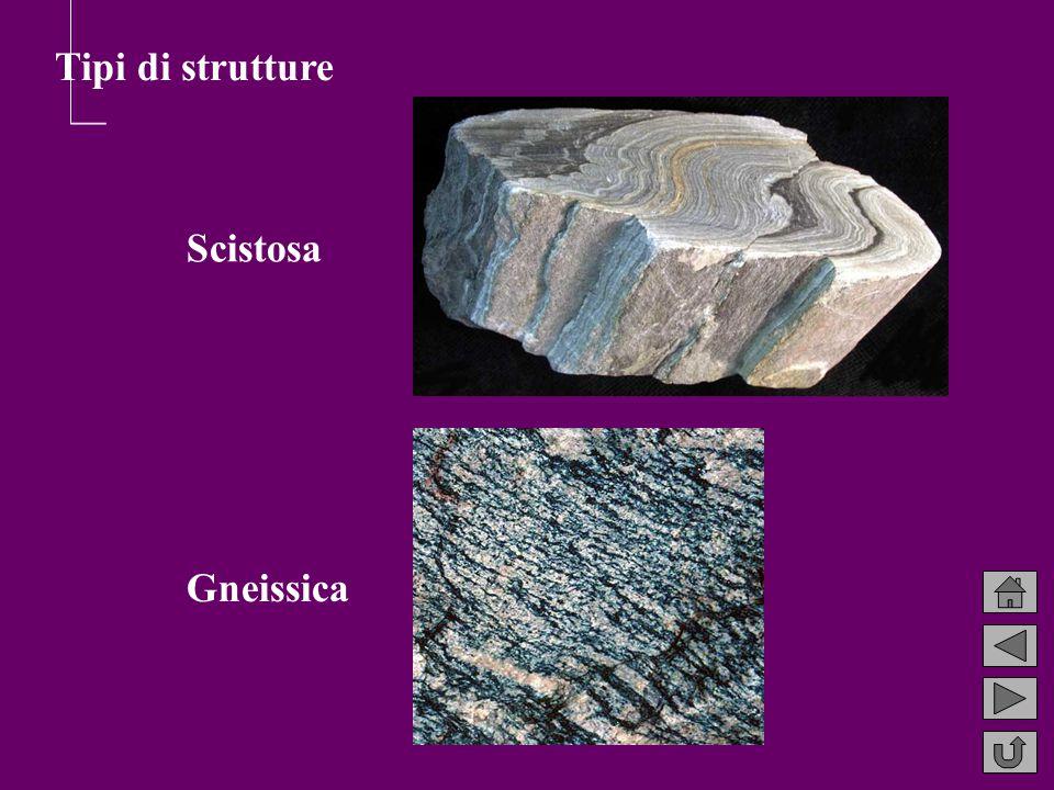Tipi di strutture Scistosa Gneissica
