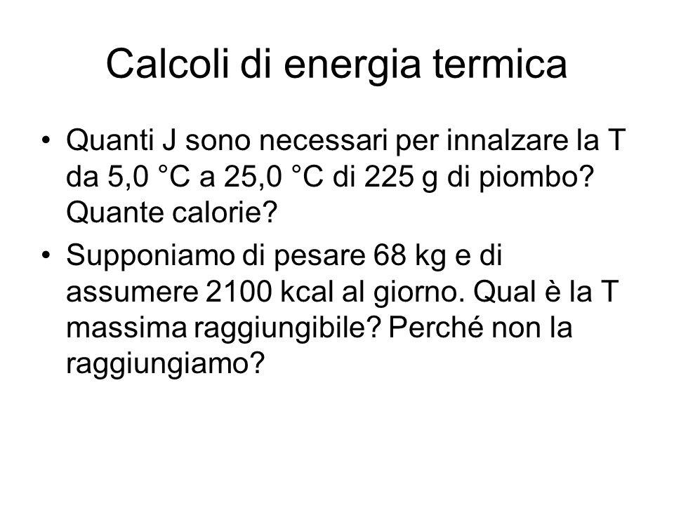 Calcoli di energia termica