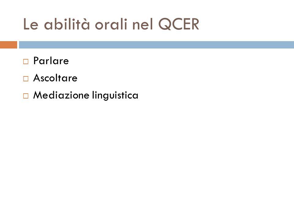 Le abilità orali nel QCER