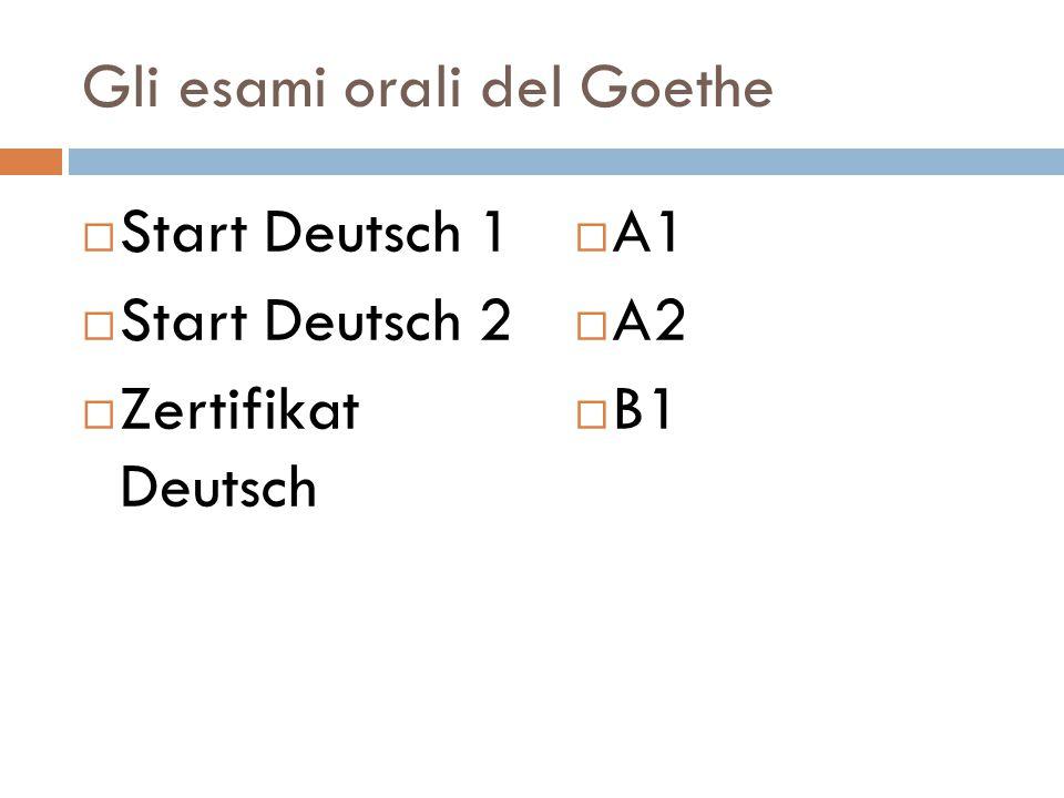 Gli esami orali del Goethe