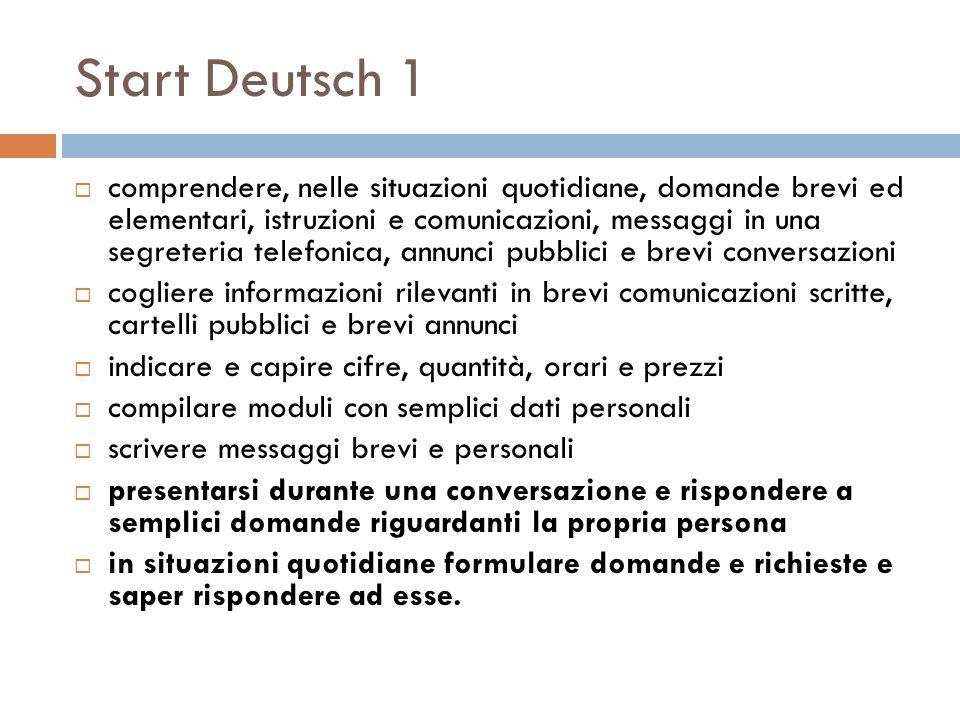 Start Deutsch 1