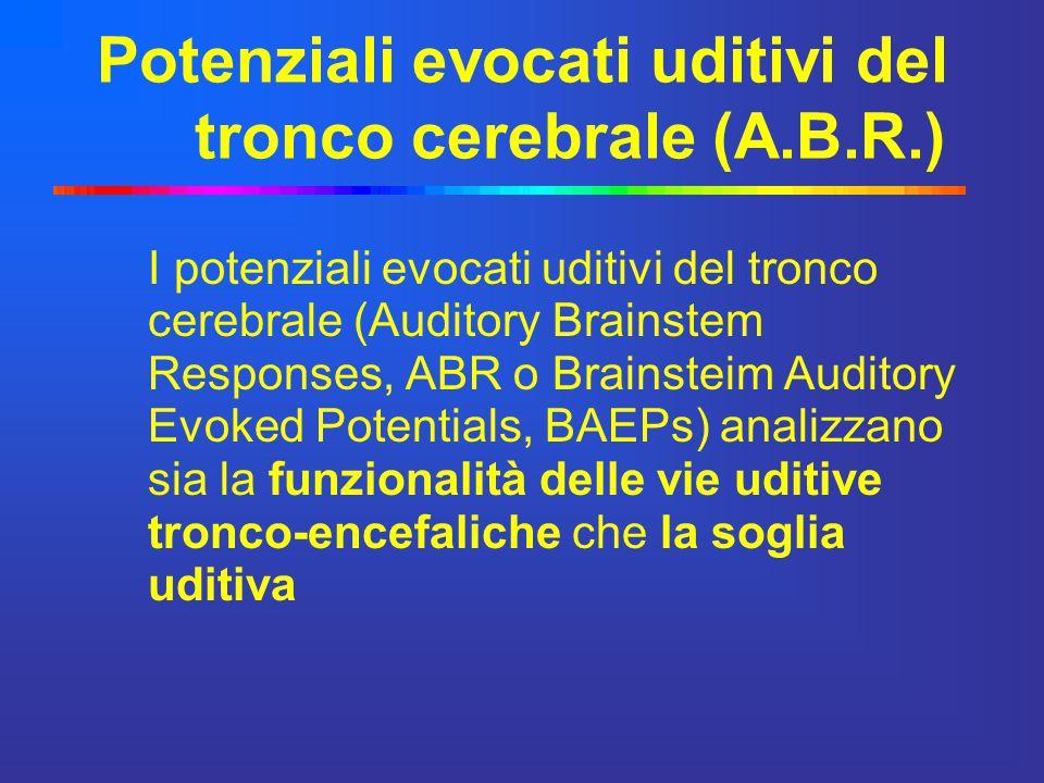 Potenziali evocati uditivi del tronco cerebrale (A.B.R.)