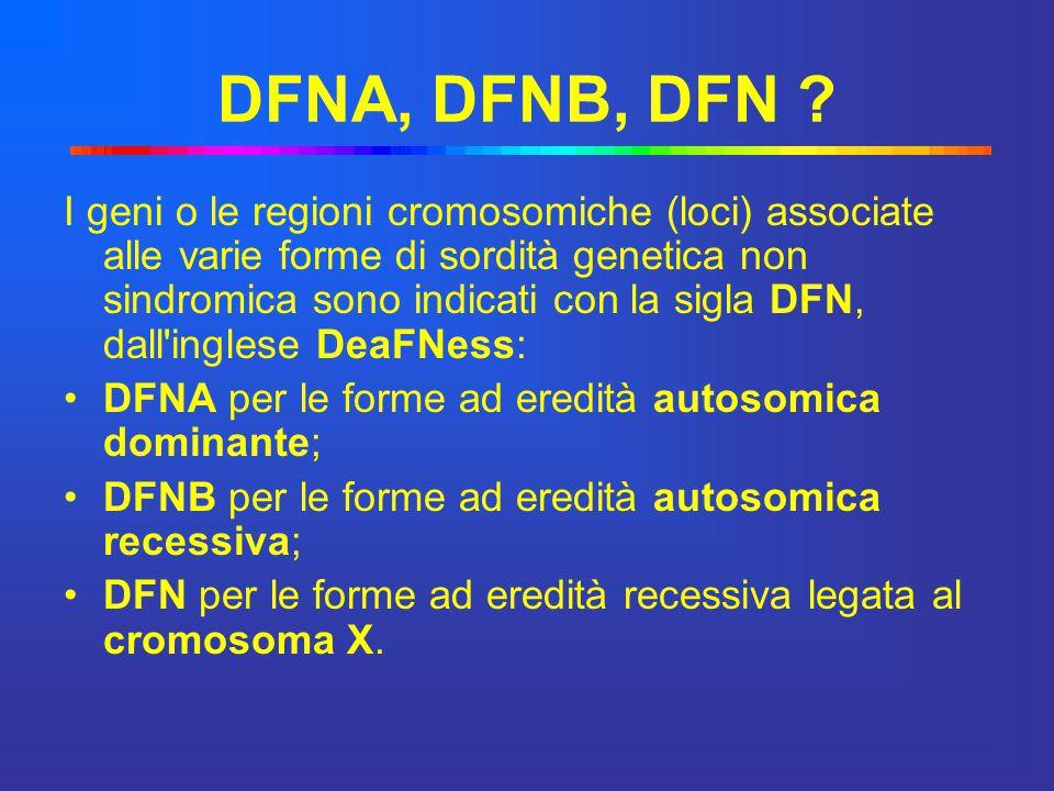 DFNA, DFNB, DFN