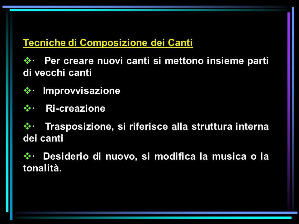 Tecniche di Composizione dei Canti