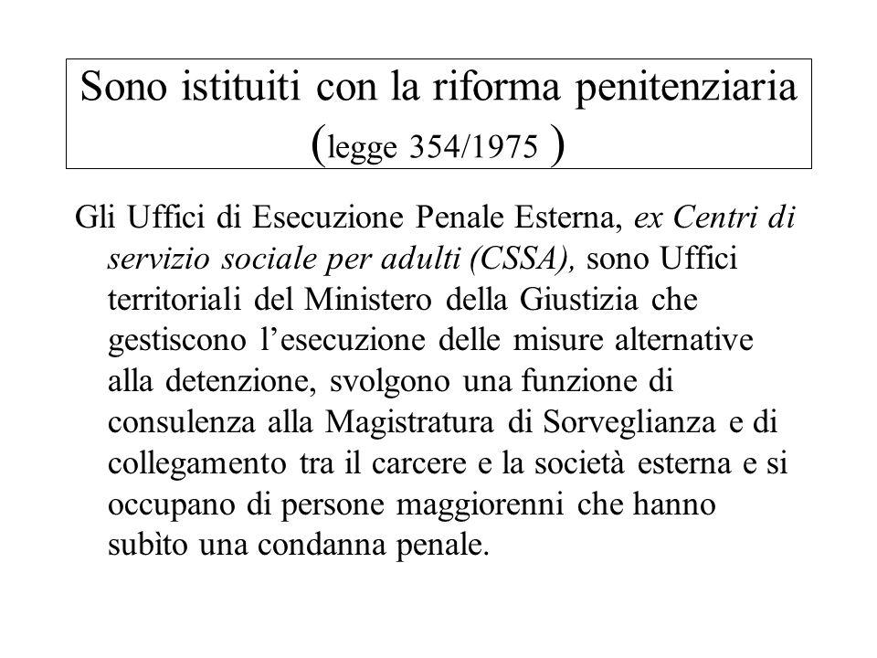 Sono istituiti con la riforma penitenziaria (legge 354/1975 )