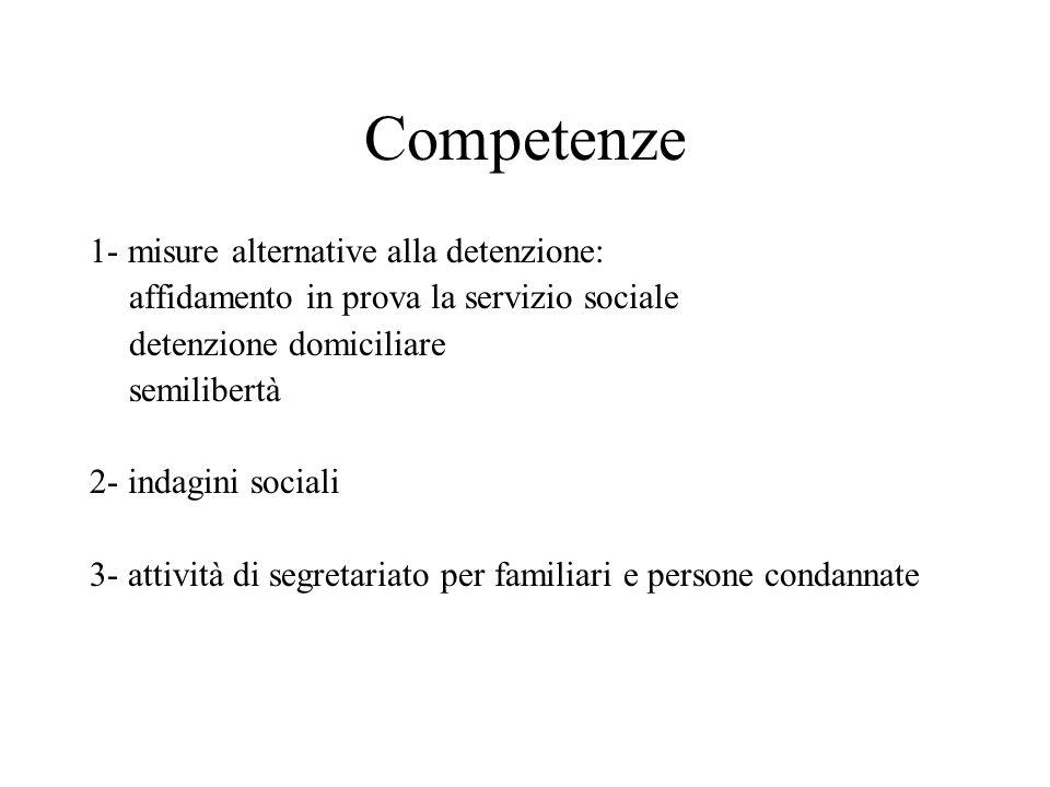 Competenze 1- misure alternative alla detenzione: