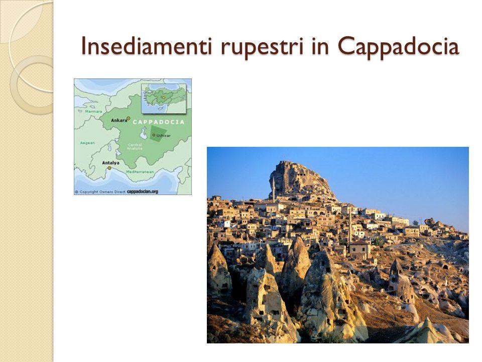 Insediamenti rupestri in Cappadocia