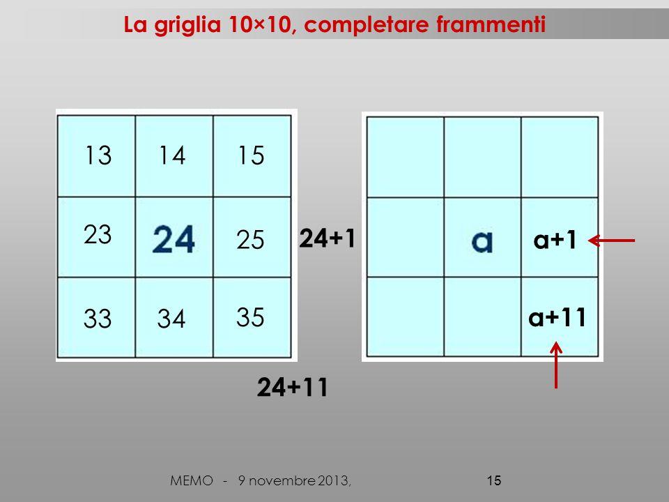 La griglia 10×10, completare frammenti