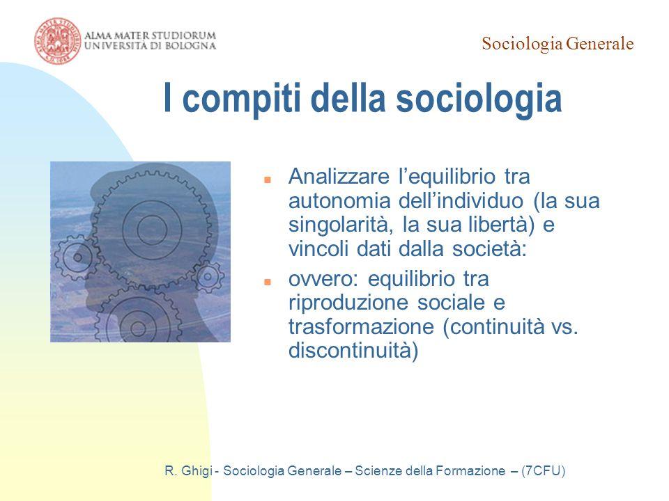 I compiti della sociologia