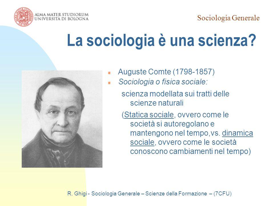La sociologia è una scienza