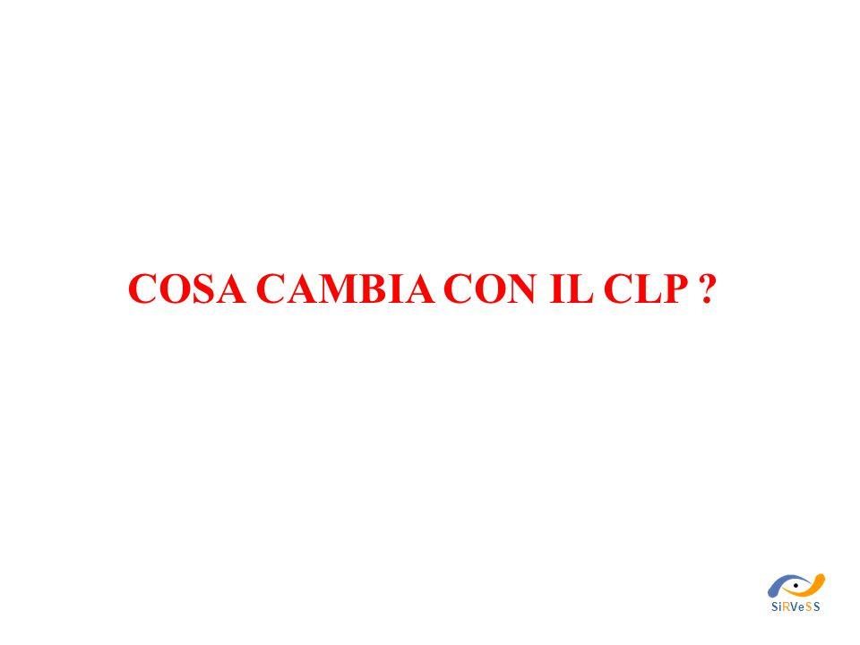 COSA CAMBIA CON IL CLP SiRVeSS
