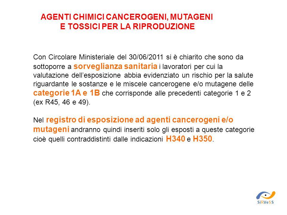 Agenti chimici cancerogeni, mutageni e tossici per la riproduzione