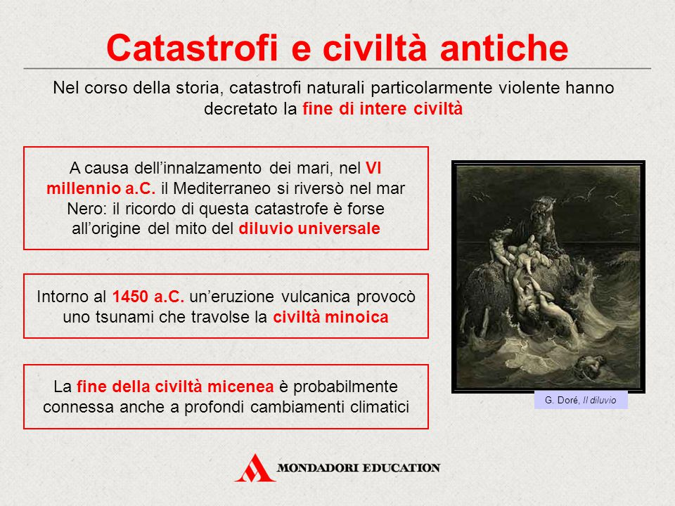Catastrofi e civiltà antiche