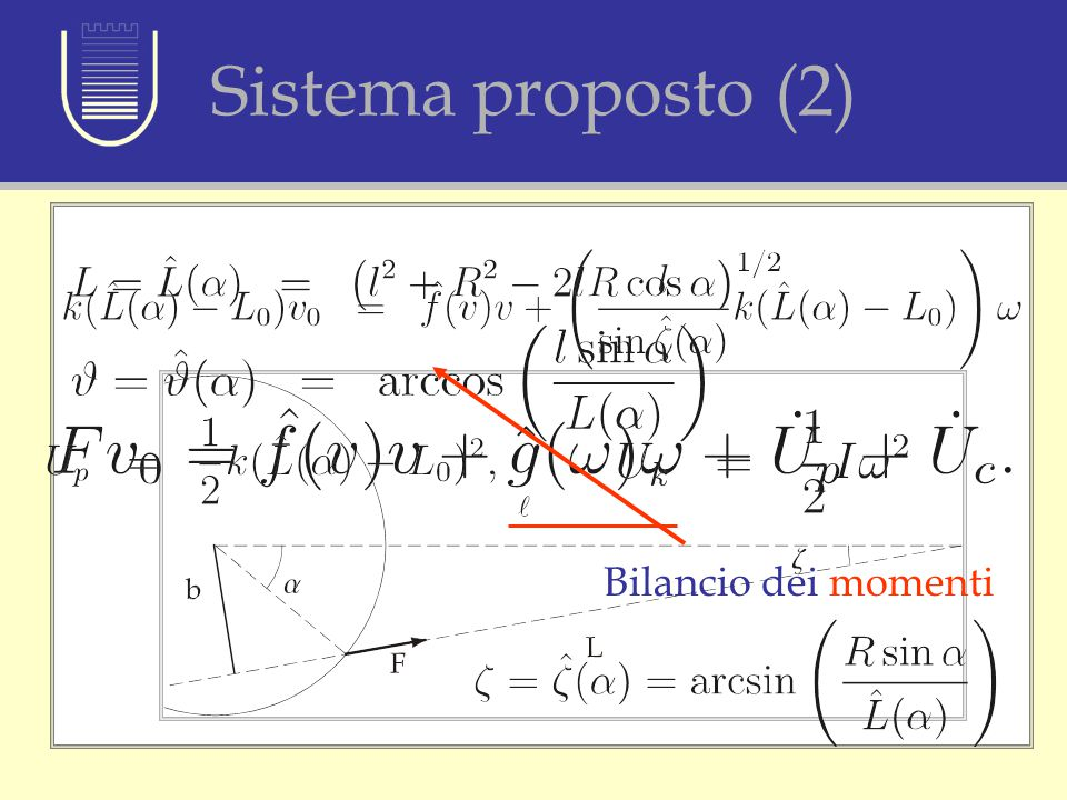 Sistema proposto (2) \ Bilancio dei momenti