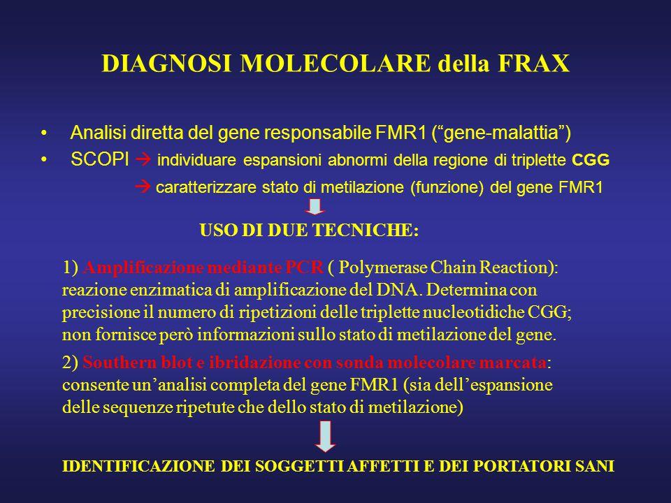 DIAGNOSI MOLECOLARE della FRAX