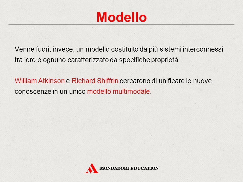 Modello Venne fuori, invece, un modello costituito da più sistemi interconnessi tra loro e ognuno caratterizzato da specifiche proprietà.