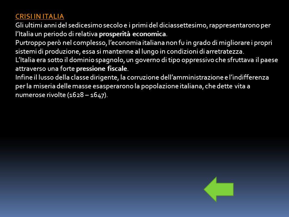 CRISI IN ITALIA