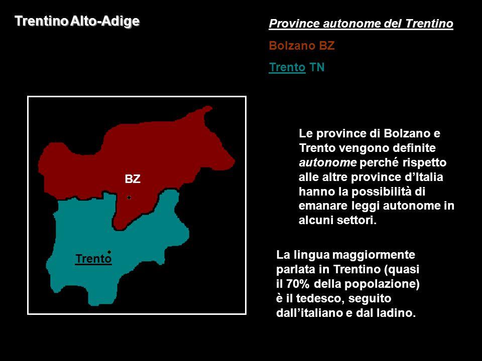 Trentino Alto-Adige Province autonome del Trentino Bolzano BZ