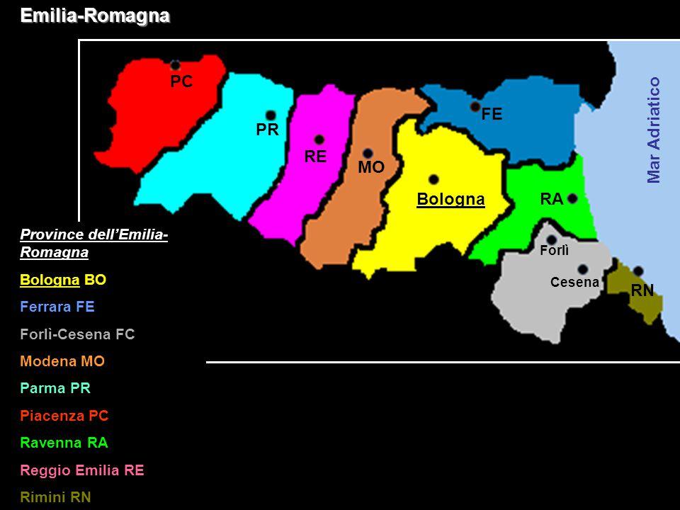 Emilia-Romagna PC FE PR Mar Adriatico RE MO Bologna RA RN