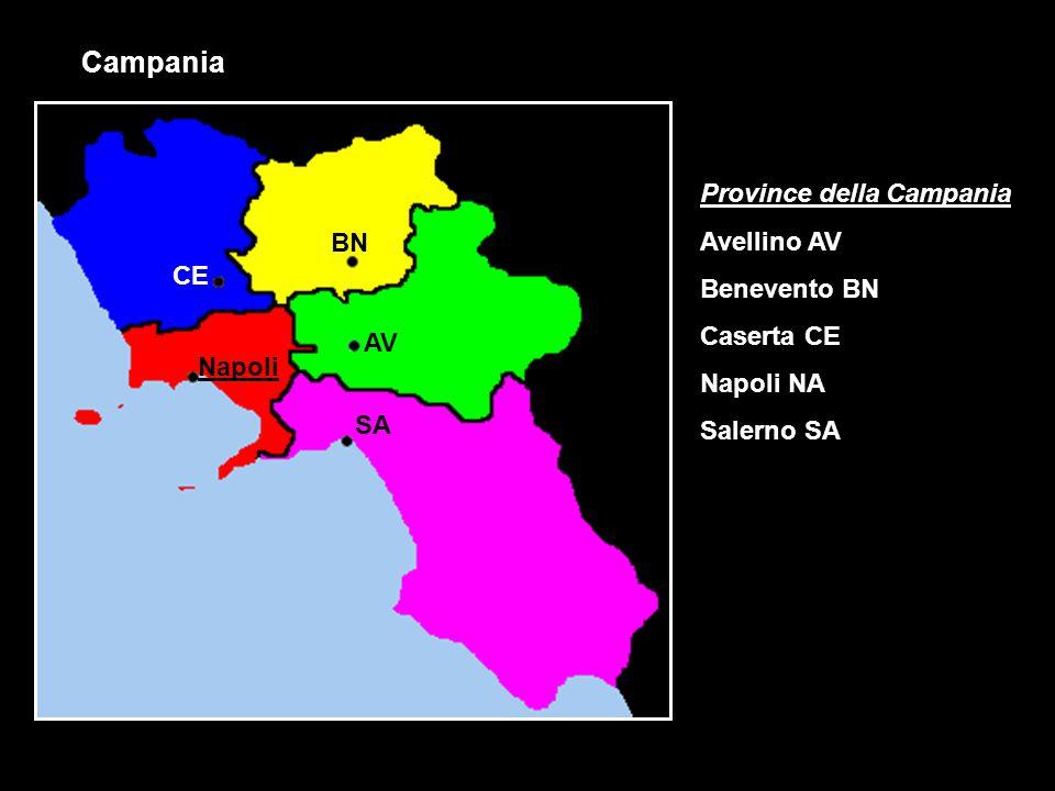 Campania Province della Campania Avellino AV Benevento BN BN