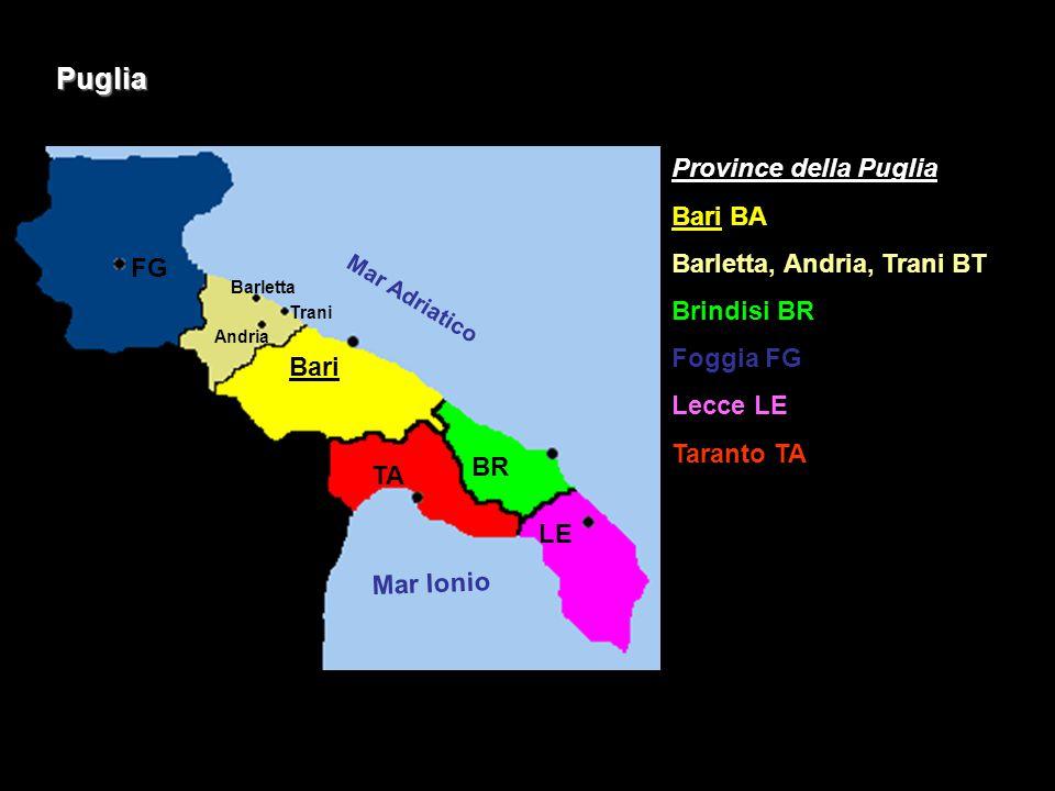 Puglia Province della Puglia Bari BA Barletta, Andria, Trani BT