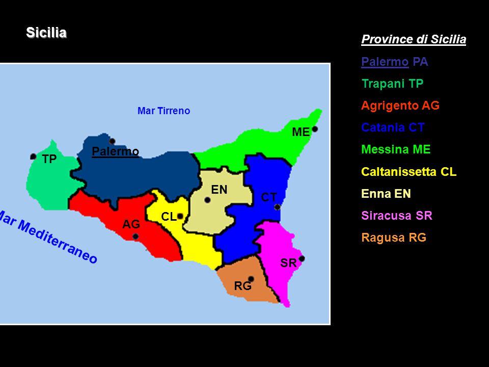 Sicilia Mar Mediterraneo Province di Sicilia Palermo PA Trapani TP