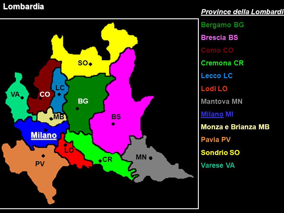 Lombardia Milano Province della Lombardia Bergamo BG Brescia BS