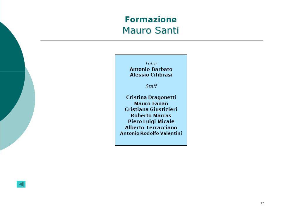 Formazione Mauro Santi