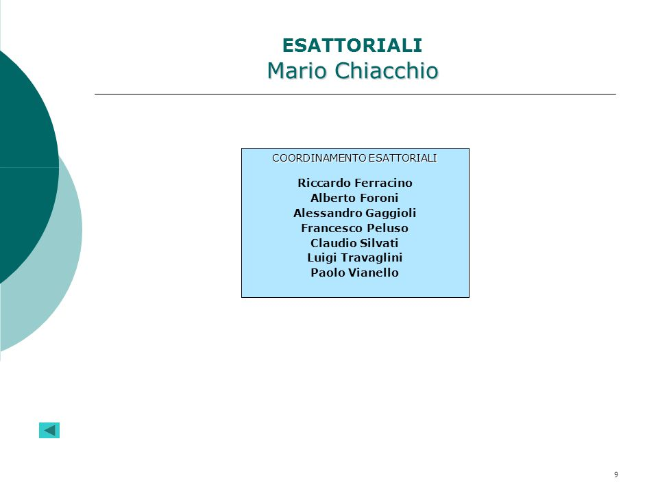 ESATTORIALI Mario Chiacchio