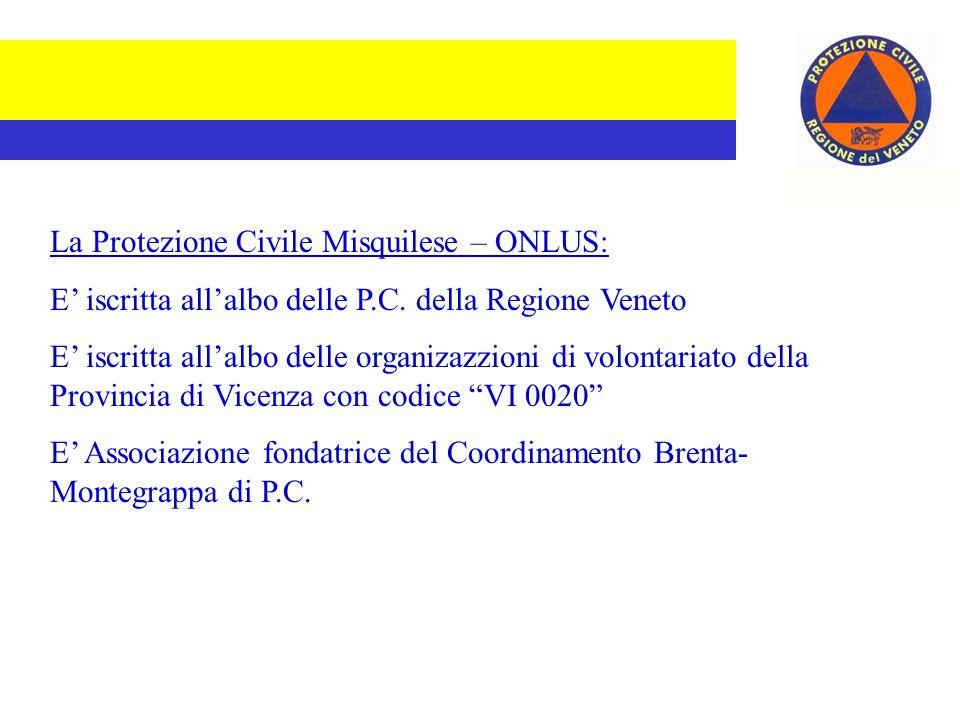 La Protezione Civile Misquilese – ONLUS: