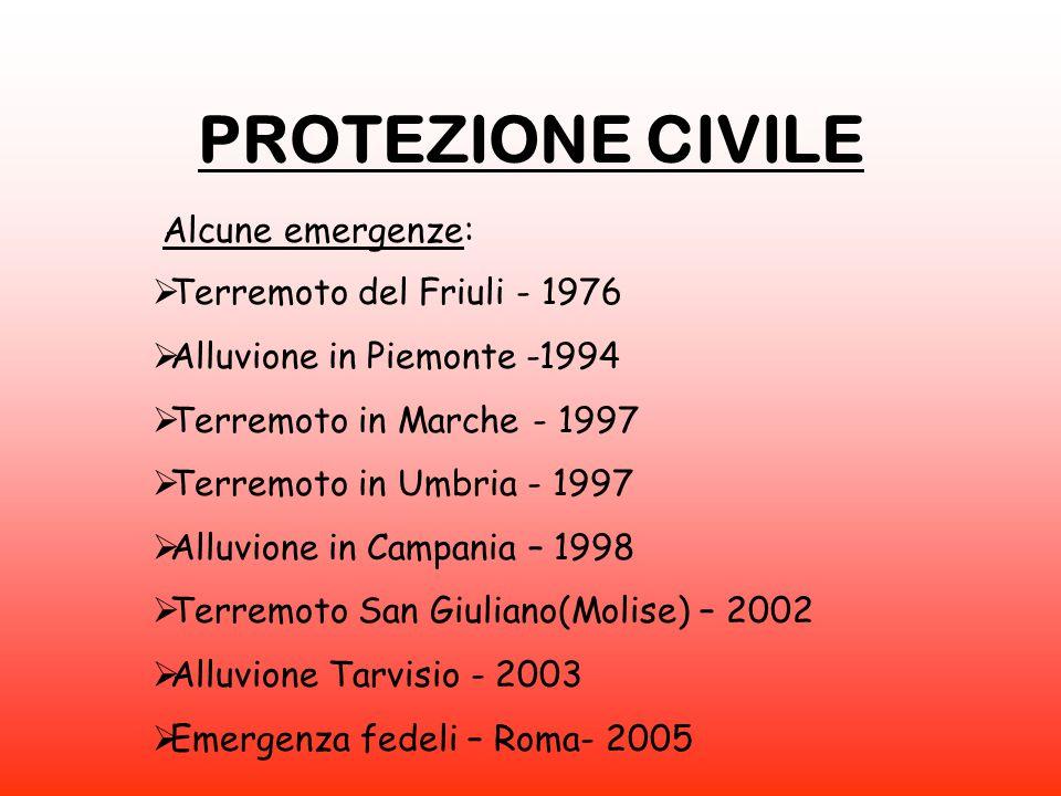 PROTEZIONE CIVILE Alcune emergenze: Terremoto del Friuli - 1976