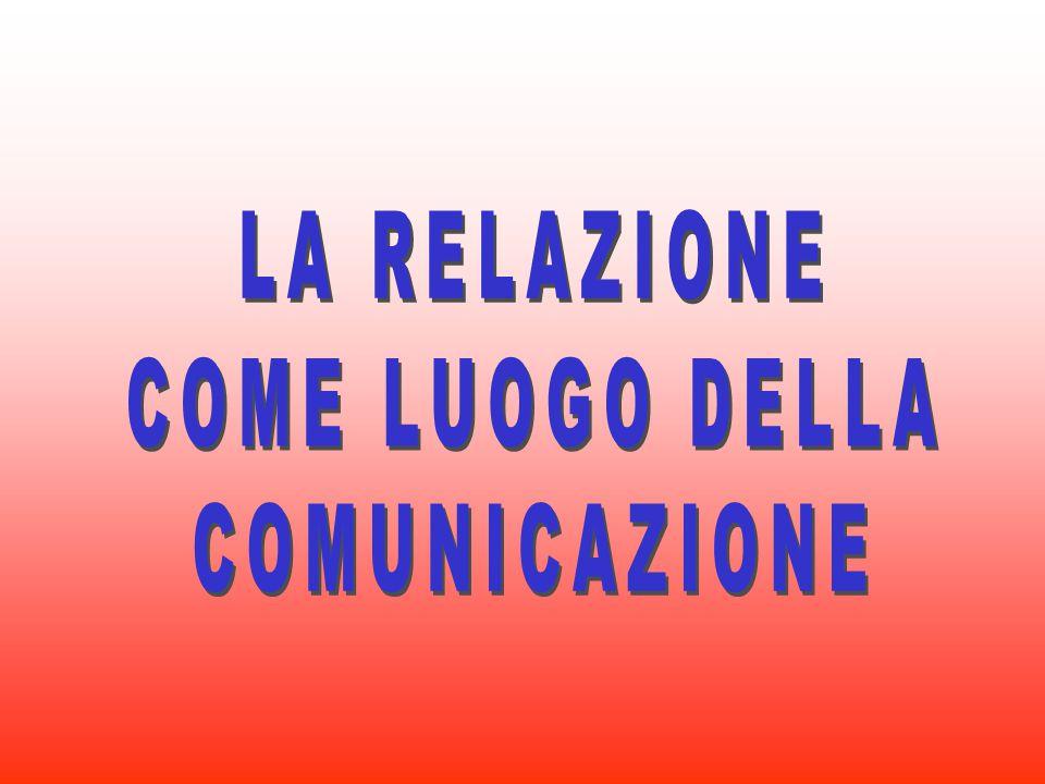 LA RELAZIONE COME LUOGO DELLA COMUNICAZIONE