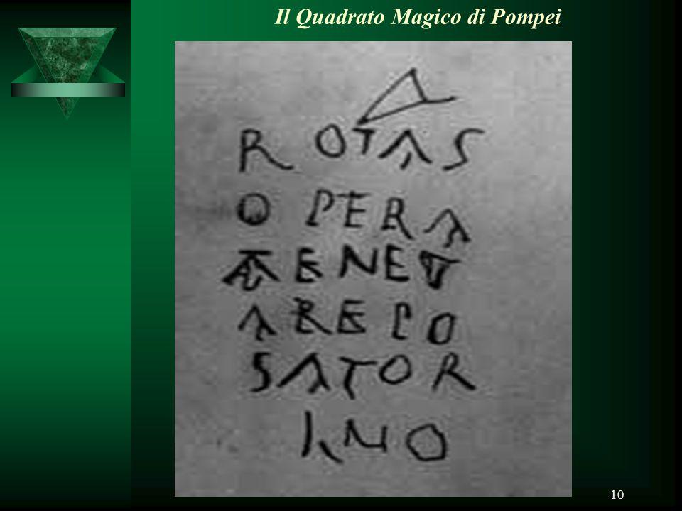 Il Quadrato Magico di Pompei