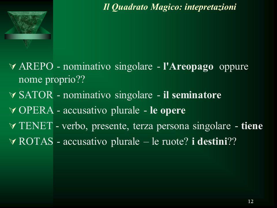 Il Quadrato Magico: intepretazioni
