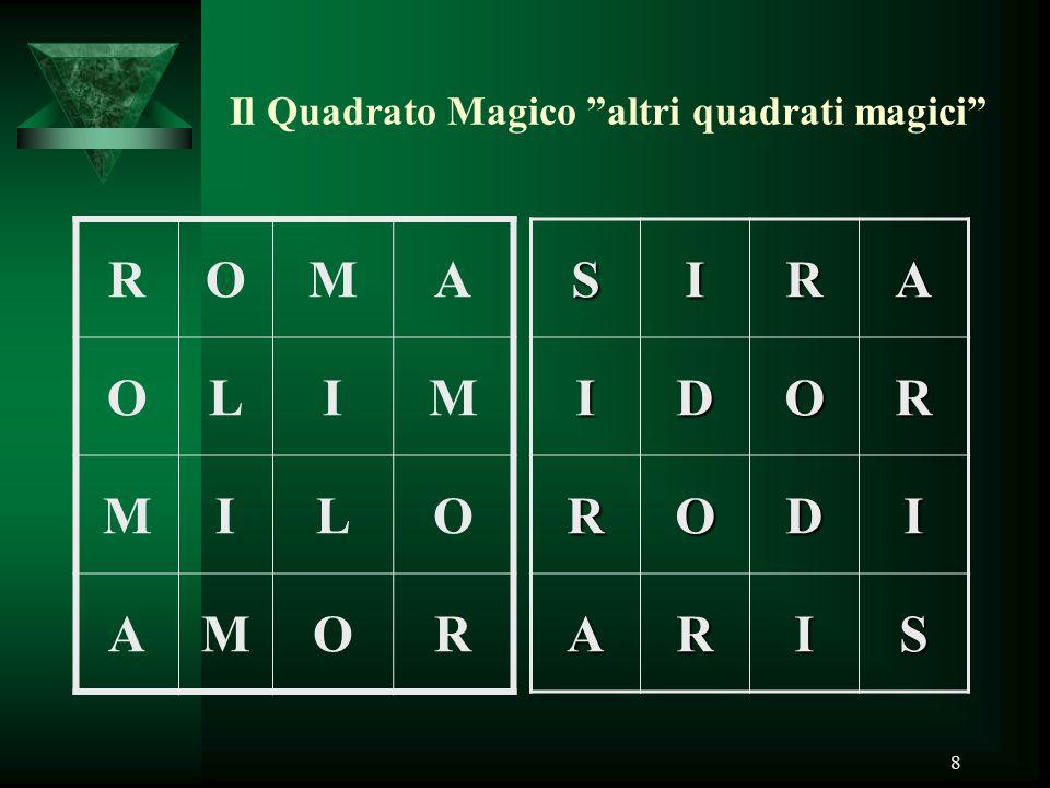 Il Quadrato Magico altri quadrati magici