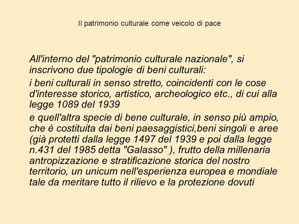Il patrimonio culturale come veicolo di pace
