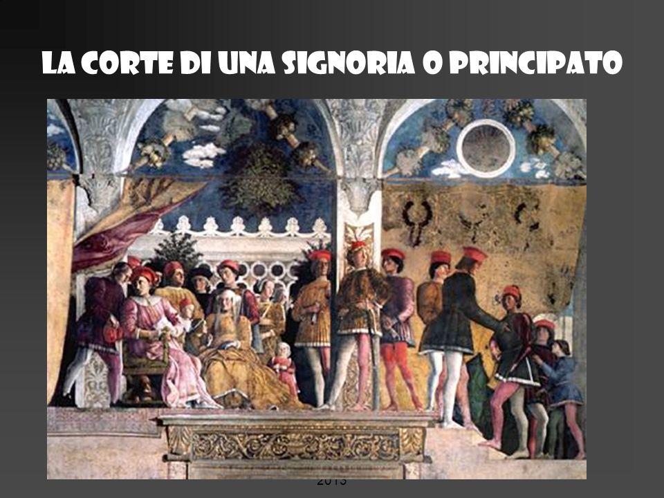 La corte di una signoria o principato