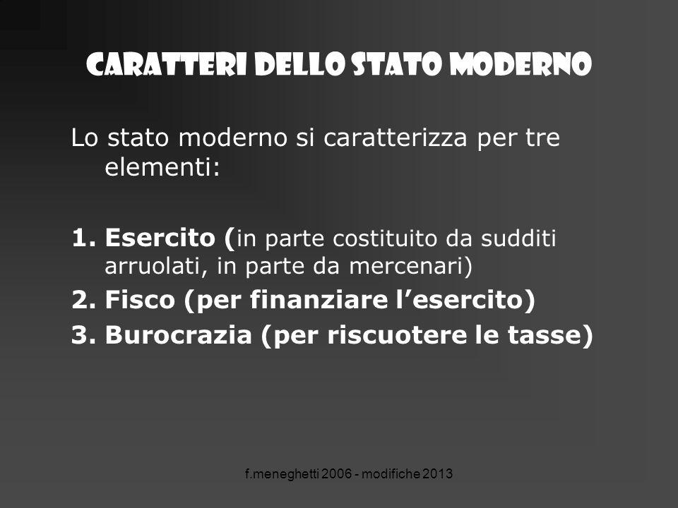 Caratteri dello stato moderno