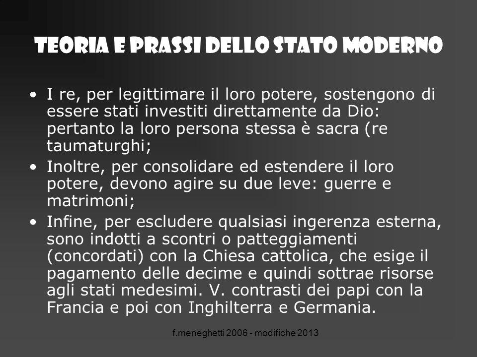 TEORIA E PRASSI DELLO STATO MODERNO