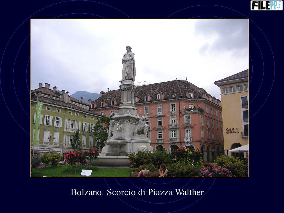 Bolzano. Scorcio di Piazza Walther
