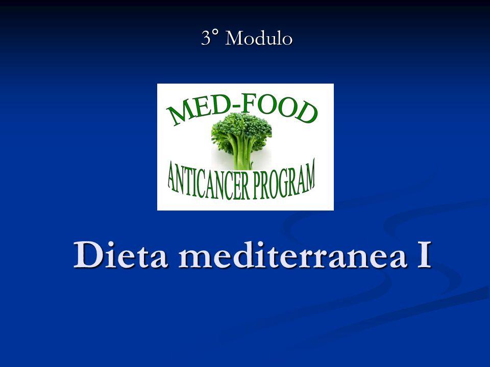 3° Modulo Dieta mediterranea I