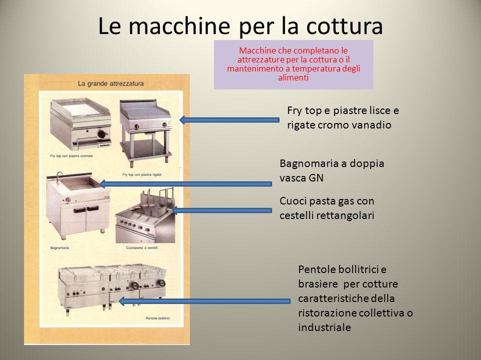 Le macchine per la cottura