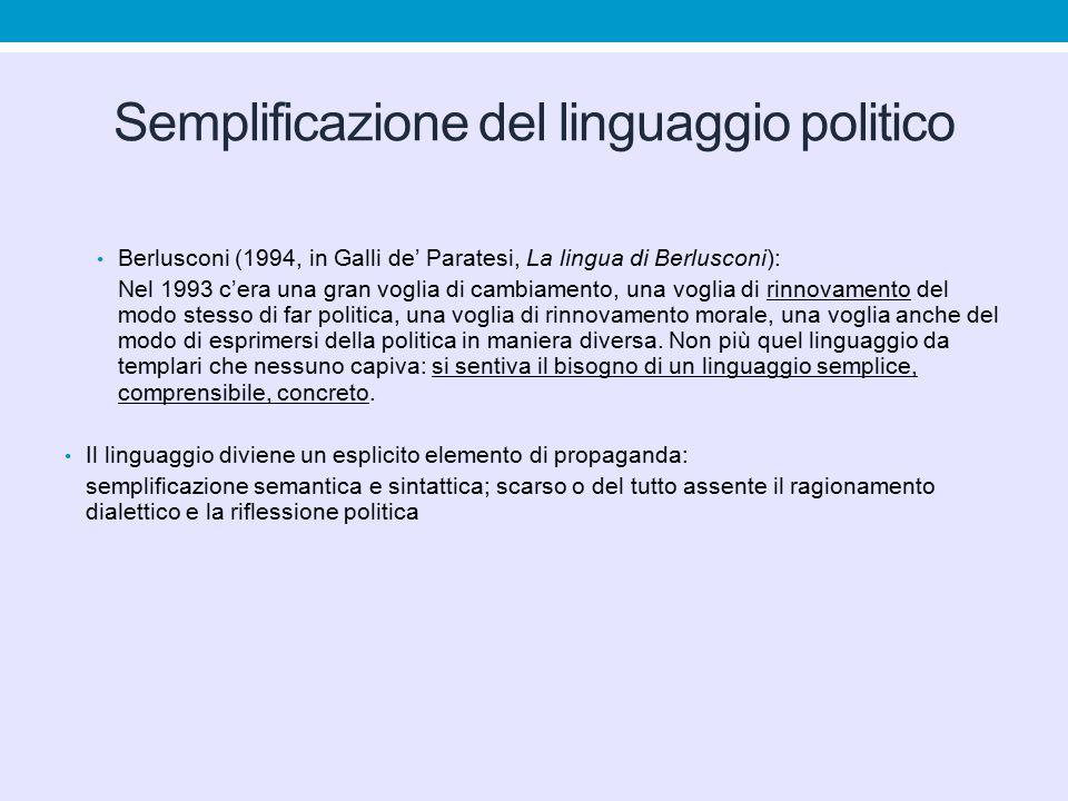 Semplificazione del linguaggio politico